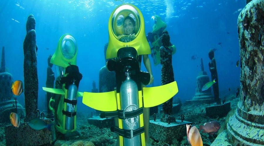 Promo Terbaru Scooter Underwater, Nikmati Paket Promo Ceningan Day Tour Plus Scooter Underwater